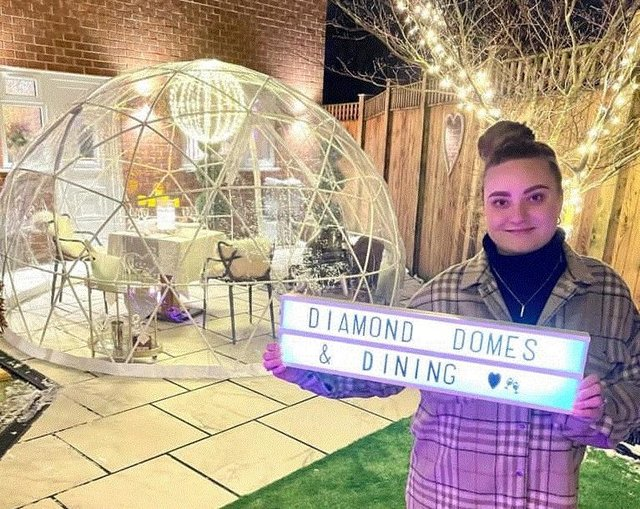 Chloe Britand, founder of Diamond Domes & Dining.