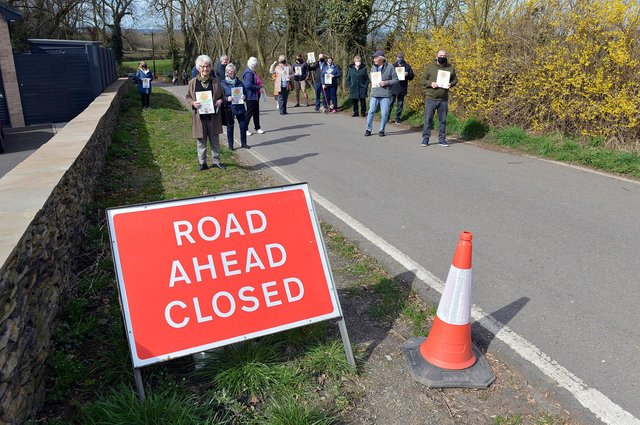 Residents on Chesterfield's Crow Lane object to road closure which they say is 'undemocratic'.