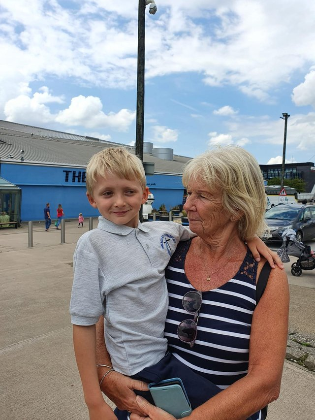 Ethan was chaperoned by Amy's grandma and auntie, who said staff made them feel included in the trip