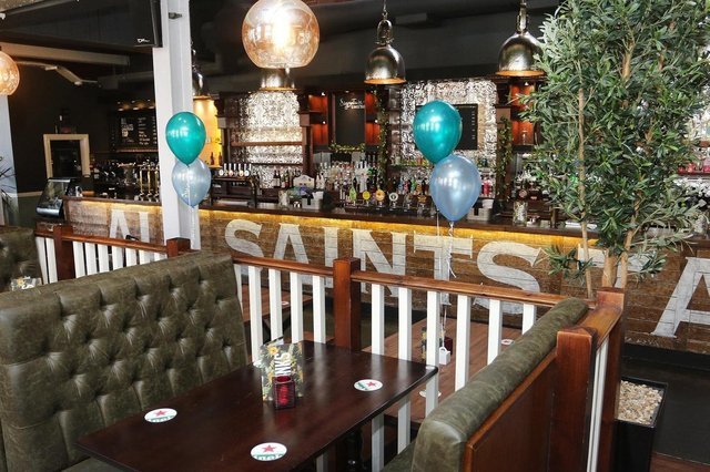 Inside the All Saints Tap on St Mary's Gate.