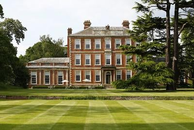 Middlethorpe Hall creates the perfect picture postcard from the bottom of the giant lawn. Image: Middlethorpe Hall