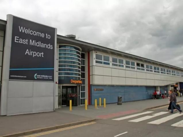 East Midlands Airport.