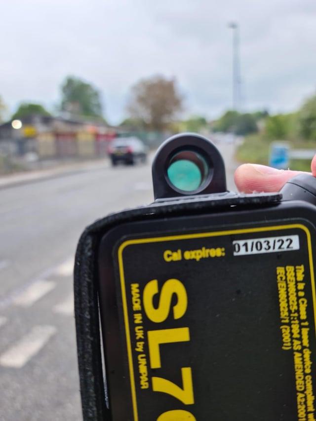 Road checks at Shirebrook
