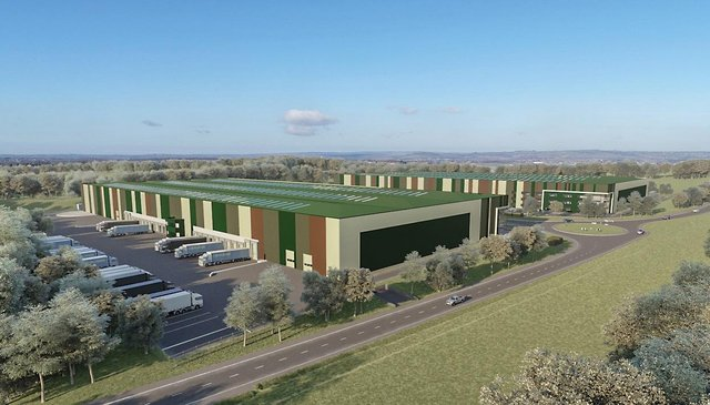 An artist's impression of how Markham Vale's Horizon29 will look.