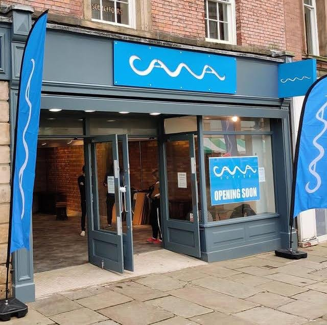 CAWA artisan bakery and coffee shop will open in the old Thornton's chocolates shop on Broad Pavement, Chesterfield.