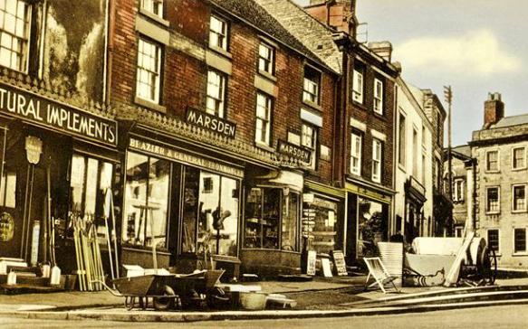 Wirksworth market place in 1940.