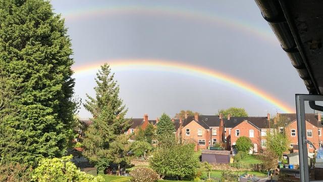 Derbyshire Times readerKei Kei Chung Li said the tertiary rainbow appeared in Brampton on Monday evening