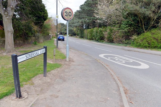 Somersall Lane in Chesterfield falls on the route of the proposed new cycle path.