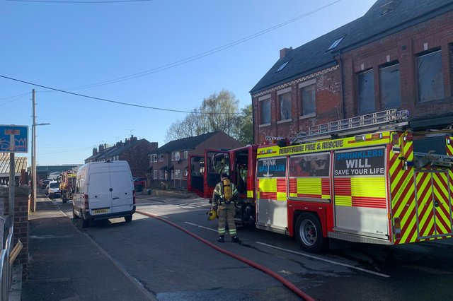Fire crews were called to extinguish a vehicle fire in Staveley yesterday evening (April 22).
