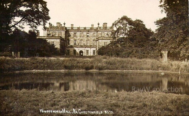 Wingerworth Hall and lake. Image c/o Chesterfield and District Civic Society.