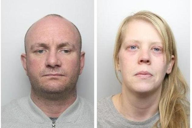 Pictured is Martin Currie, aged 36, of no fixed abode, who was found guilty of murdering Sarah O'Brien's two-year-old son Keigan O'Brien, and also pictured is Sarah O'Brien, aged 33, of Bosworth Road, Doncaster, who was found guilty of allowing the death of her son.