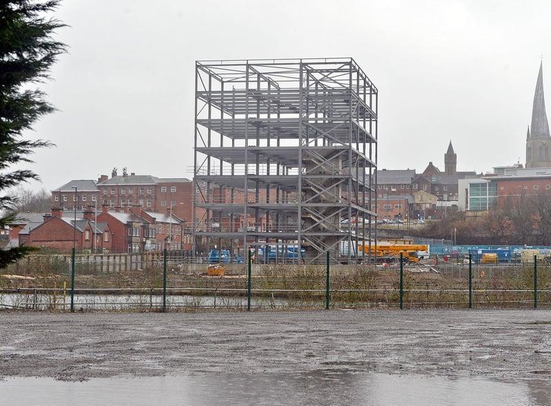 Chesterfield Waterside is taking shape.