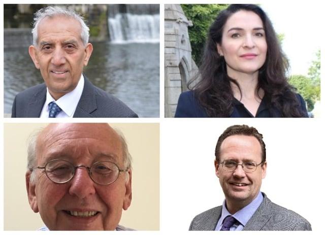 Hardyal Dhindsa - top left; Angelique Foster - top right; Stan Heptinstall - bottom left; Timothy Prosser - bottom right.
