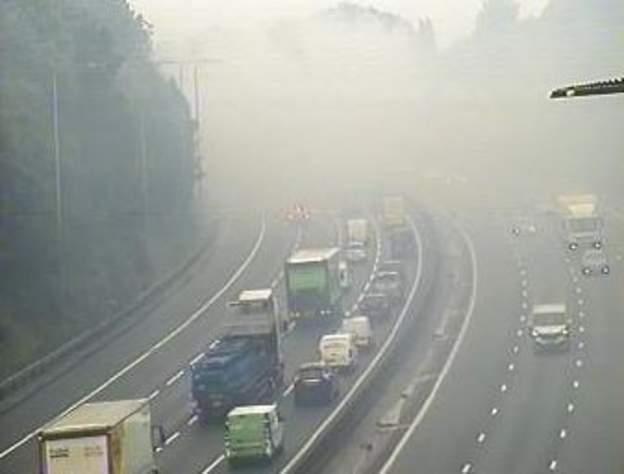 There are delays of 40 minutes. Image:  Highways England