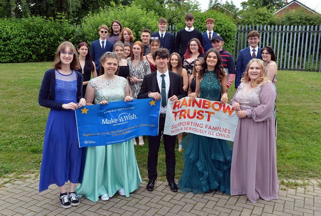 Tupton Hall school students have worn their prom outfits to school to raise money for charity