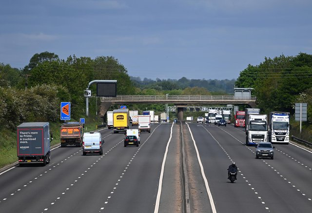 One lane of the M1 is currently closed.(Photo by Clive Mason/Getty Images)