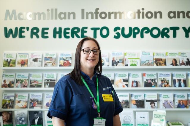 Sheree Hall, Macmillan lead cancer nurse based at Chesterfield Royal Hospital. Photo: Steve Smailes Photography.