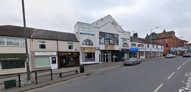 The empty retail unit on Station Road, Whittington Moor, will be transformed into a bar with a Victorian twist (google)