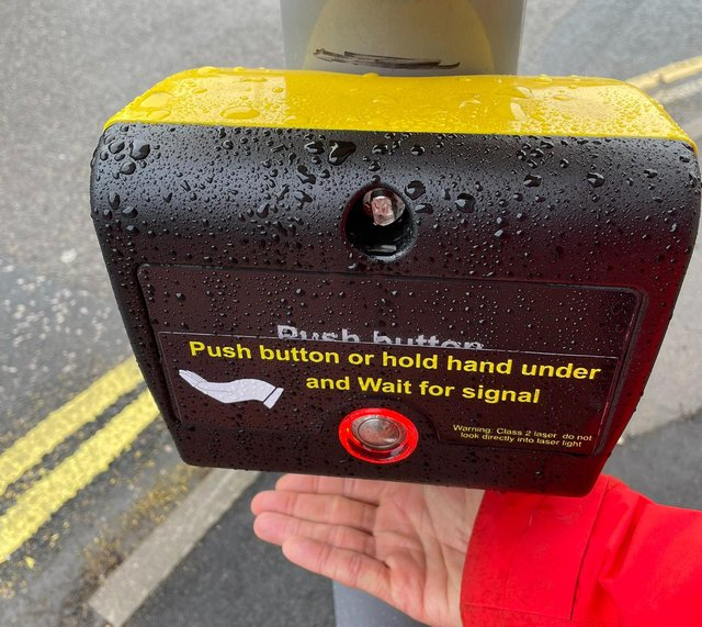 The hands-free crossing has been installed at Saltergate in Chesterfield. Pictures by Ed Fordham.