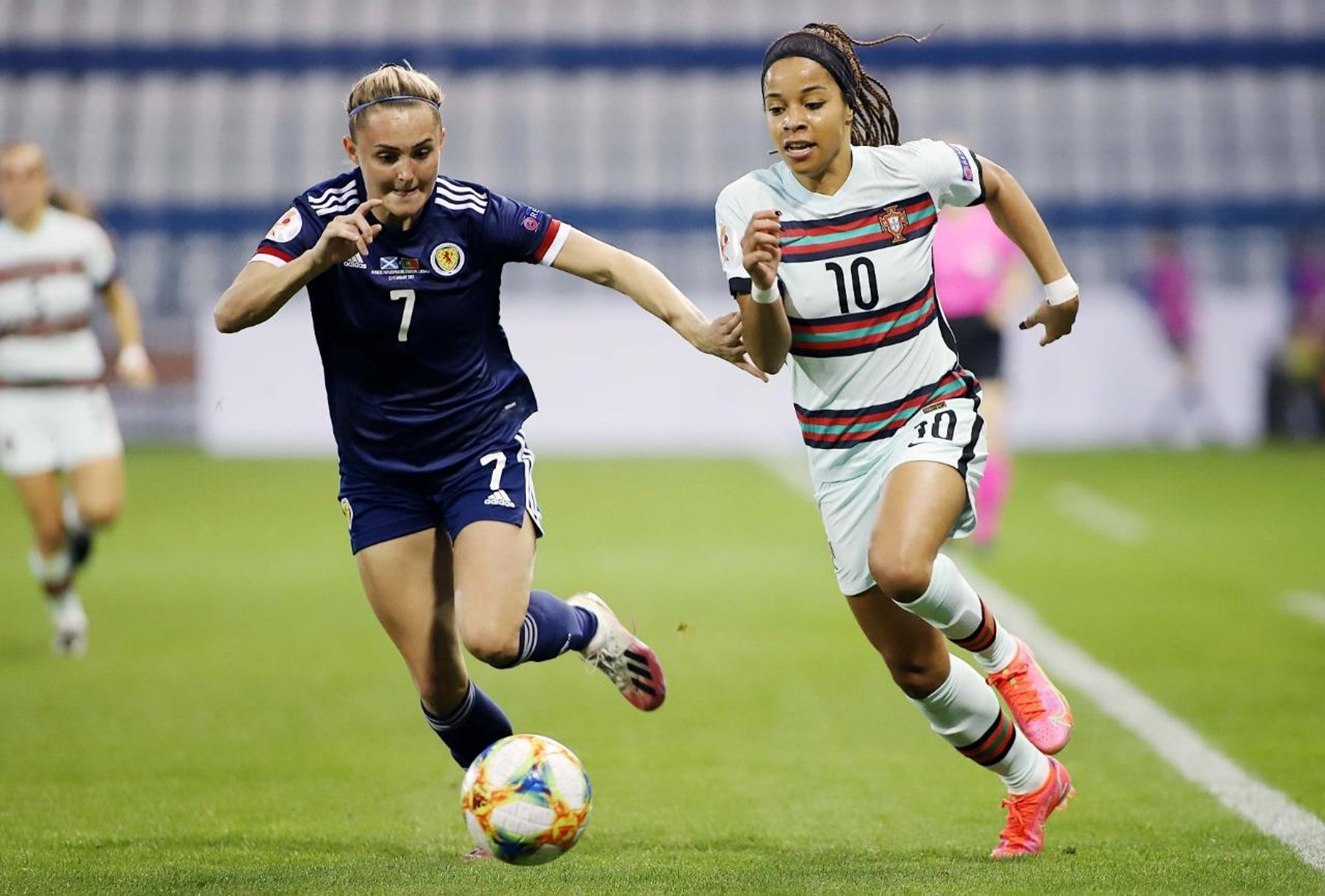 First Scotland start for Falkirk's Sam Kerr in 1-0 defeat to Portugal