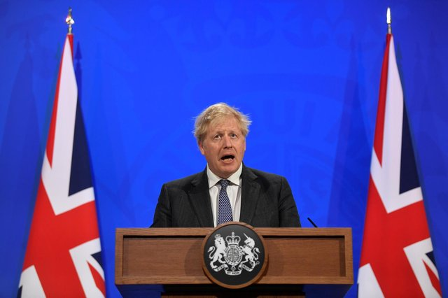 Boris Johnson is to hold a Downing Street press conference today amid growing concern over the surge in cases of the Indian Covid-19 variant (Photo by Toby Melville - WPA Pool / Getty Images)