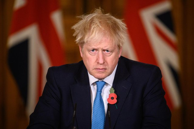 Boris Johnson will hold a conference at Downing Street today as the UK marks the anniversary of the first national lockdown (Photo by Leon Neal - WPA Pool/Getty Images)