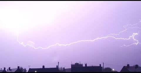 Resident David Turford captured the incredible footage as the storm broke over Bolsover