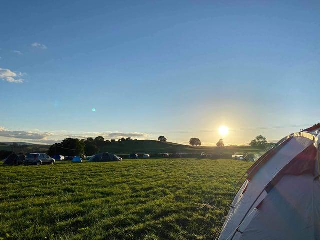 Beltonville Farm campsite at Millers Dale, near Buxton.