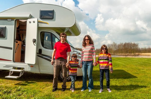 A motor home offers a young family freedom and flexibility. Photo: Shutterstock/JaySi