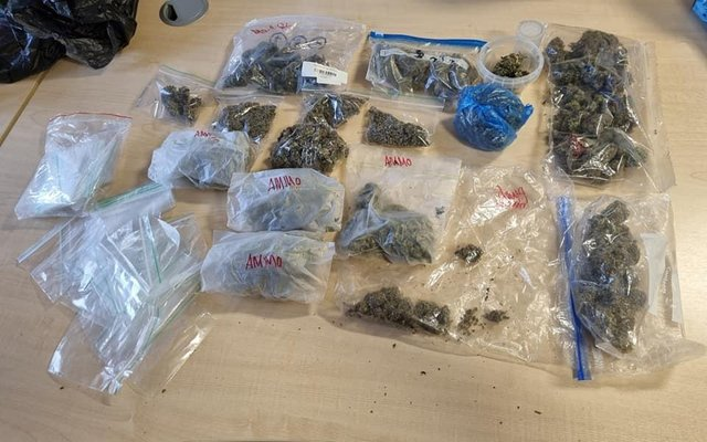 Officers seized a large quantity of cannabis from a property in Walton yesterday (April 18).