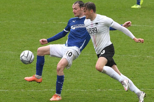 Chesterfield were beaten 2-0 at home to Torquay on Monday. Pictured: Liam Mandeville.