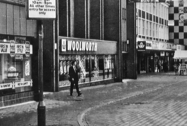 Burlington Street Chesterfield. Picture supplied by Alan Taylor