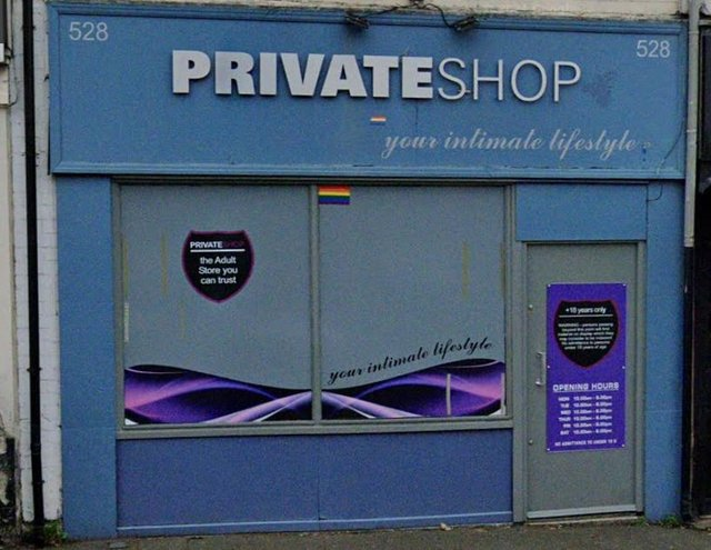 Private Shop on Sheffield Road, Chesterfield. Picture from Google Street View.