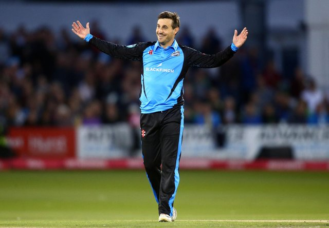 Daryl Mitchell took a landmark 100 T20 wickets for Worcestershire Rapids in the win. (Photo by Jordan Mansfield/Getty Images)