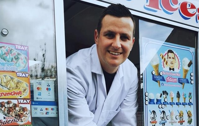 Adam Savage in his ice cream van.