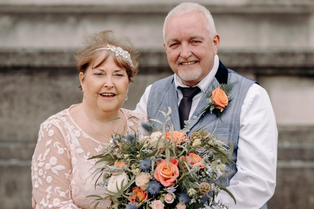 Claire and Craig Sivorn were given help by Ashgate Hospice so their wedding could take place three months earlier than planned.