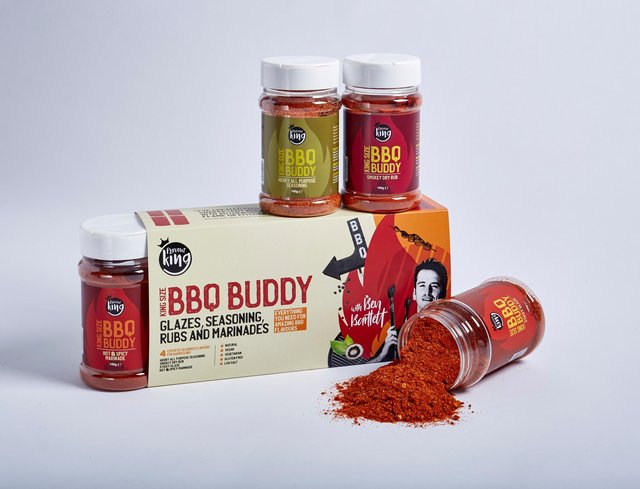 For every dad that thinks he is a BBQ master, then these Chesterfield-made king size pots of specially blended herb and spices, make an ideal gift. Only available online. Use code FKFD5 to get £5 off until Father's Day. Visit www.flavourking.co.uk