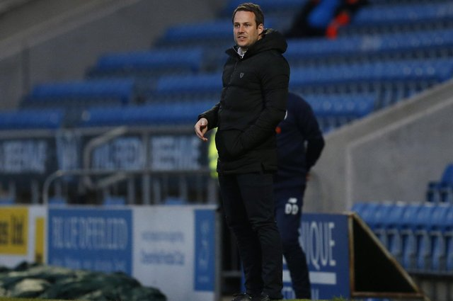 Chesterfield manager James Rowe.