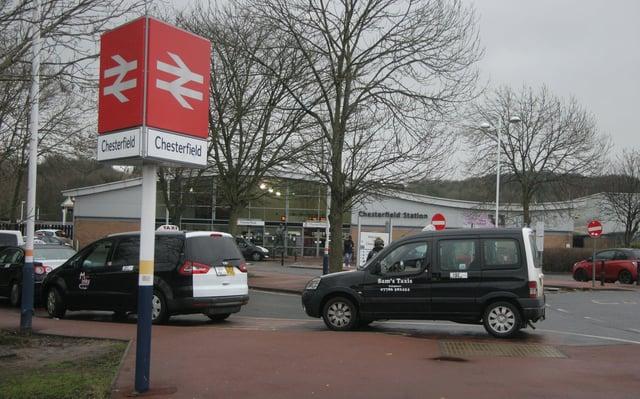 Chesterfield railway station.