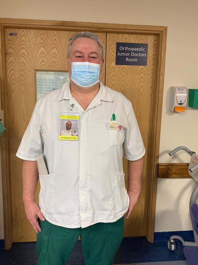 Darren Barthorpe, occupational therapist technician and physio, said the pandemic had been 'draining' for all staff.