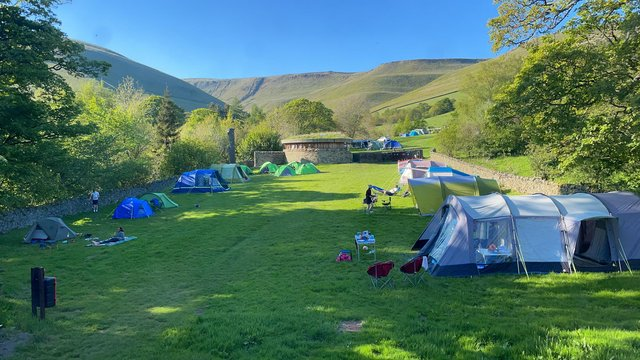 Upper Booth Campsite is spread over two fields.