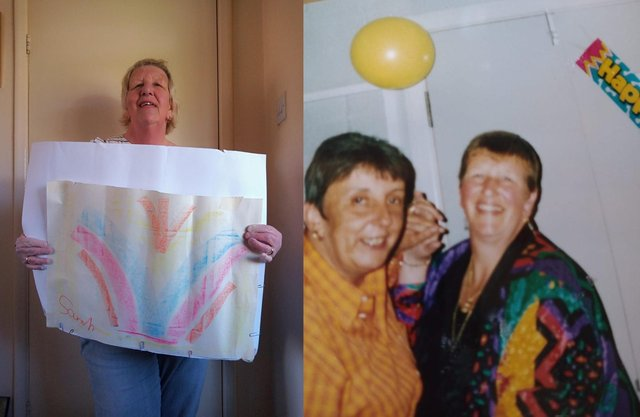 Sarah Thomas said the art project at Ashgate has helped her to deal with the grief of losing her partner, Jackie Waring.