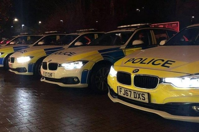 Two police cars were damaged during the pursuit