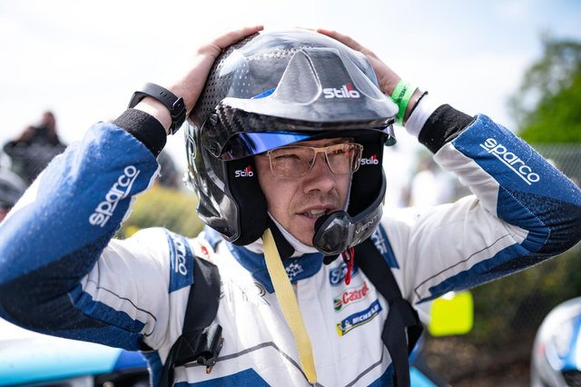 Chesterfield's Rhys Yates signalled his intent at the first race of the season.
