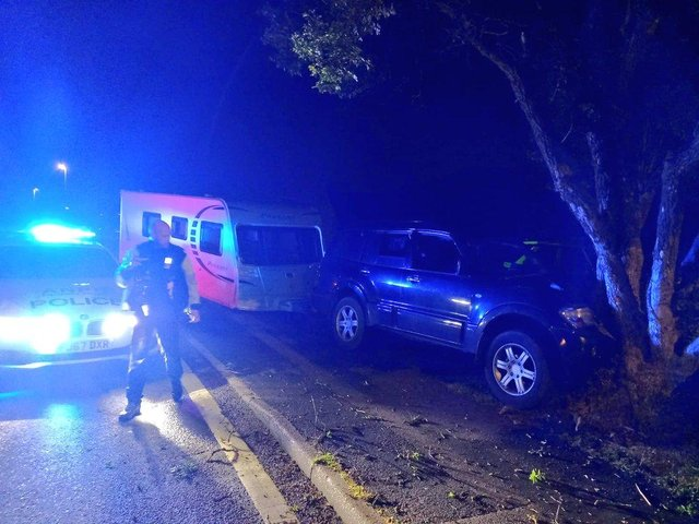 The driver of the stolen car managed to escape police in Clowne