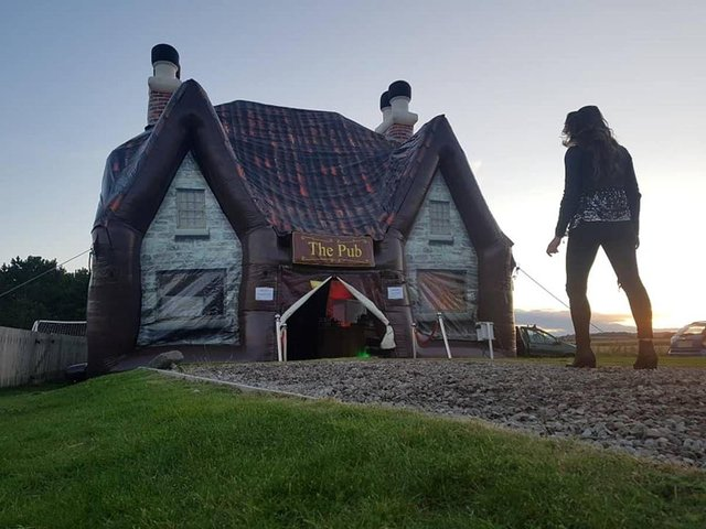The Inflatable Pub Company has three models to choose from. Picture: The Inflatable Pub Company.