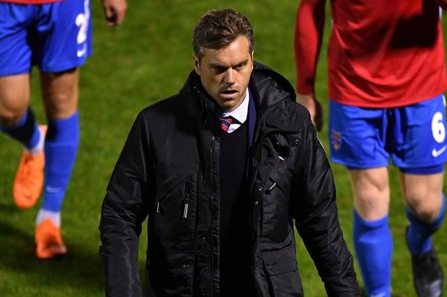 Daryl McMahon, manager of Dagenham & Redbridge.