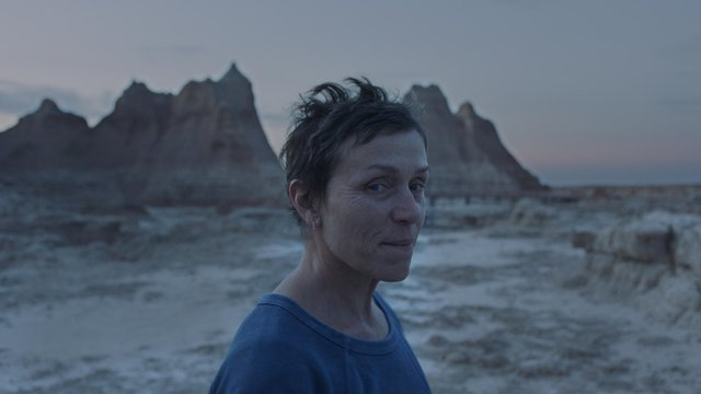 Oscar winner Frances McDormand in Nomadland. Photo courtesy of Searchlight Pictures, copyright 20th Century Studios.