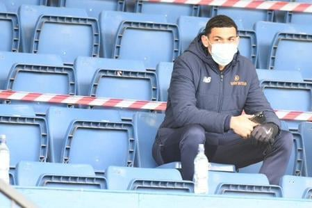 New signing Kairo Mitchell watched on as Chesterfield beat his former side on Saturday. Picture credit: Tim Smith.