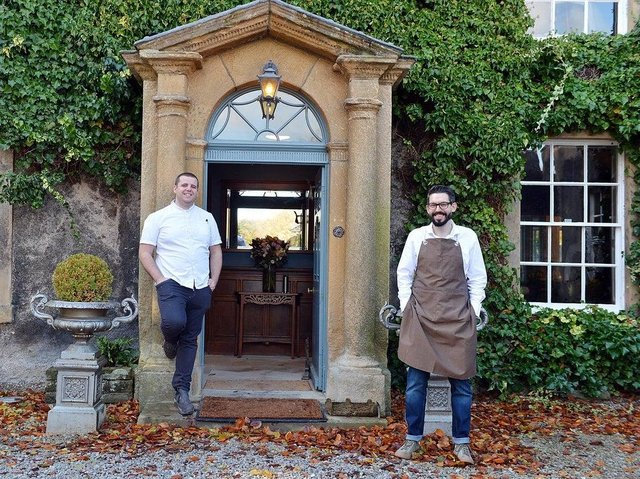 Tom Lawson and Alistair Myers, owners of the Riverside House Hotel at Ashford-in-the-Water.